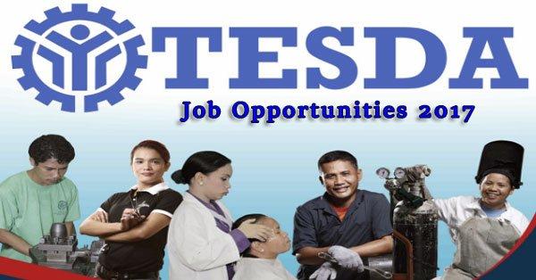 TESDA Job Opportunities 2017