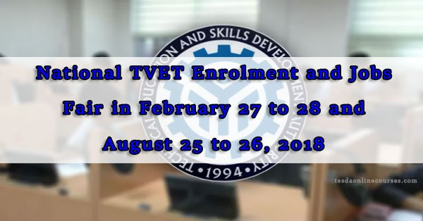 TESDA to Conduct National TVET and Jobs Fair 2018