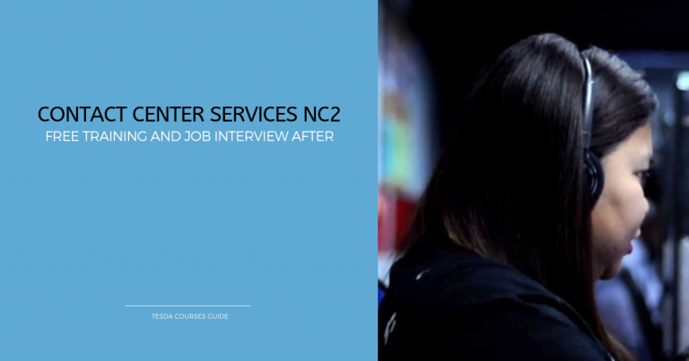 FREE TESDA Contact Center Services NC2 Training