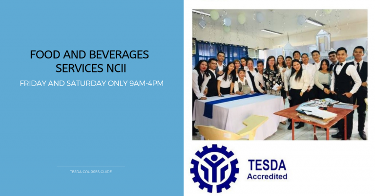 Train and be Certified in Food and Beverages Services NCII