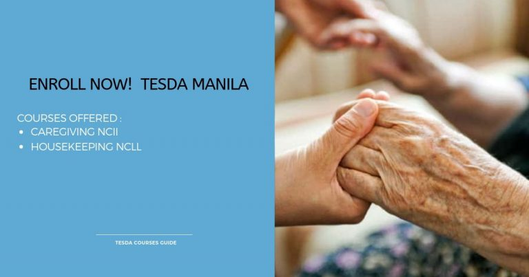 Caregiving NCII and Housekeeping NCll by TESDA Manila