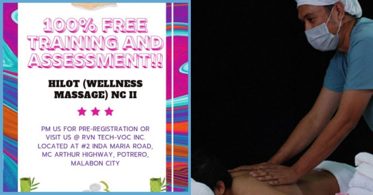 Libreng TESDA Training and Assessment Offer for Wellness Massage Course